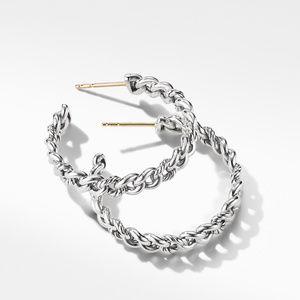 Belmont Curb Link Medium Hoop Earrings alternative image