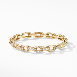 Stax Chain Link Bracelet with Diamonds in 18K Yellow Gold alternative image