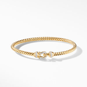 Cable Buckle Collection® Bracelet in 18K Yellow Gold with Diamonds alternative image