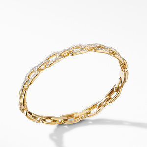 Stax Chain Link Bracelet with Diamonds in 18K Yellow Gold