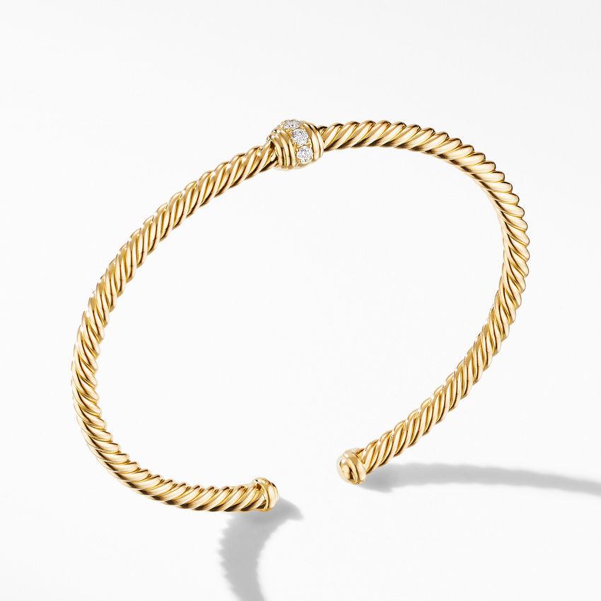 Renaissance Center Station Bracelet 18K Yellow Gold with Diamonds