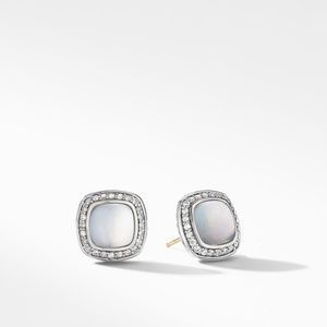 Albion® Stud Earrings with Rock Crystal and Diamonds