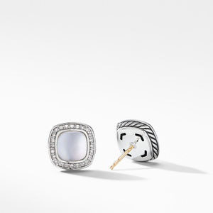 Albion® Stud Earrings with Rock Crystal and Diamonds alternative image