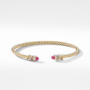 Petite Helena Open Bracelet in 18K Yellow Gold with Rubies and Diamonds alternative image