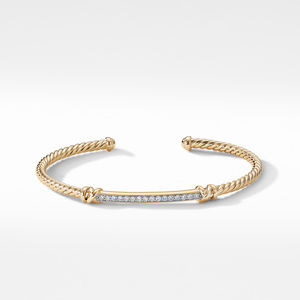 Petite Helena Two Station Wrap Bracelet in 18K Yellow Gold with Diamonds alternative image