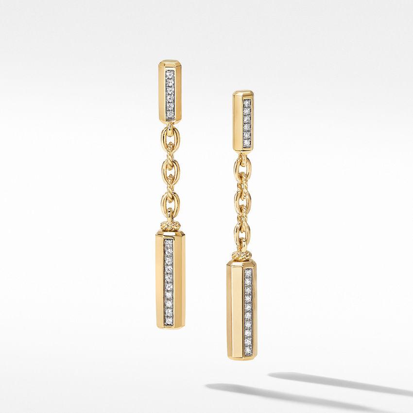 Lexington Chain Drop Earrings 18K Yellow Gold with Diamonds