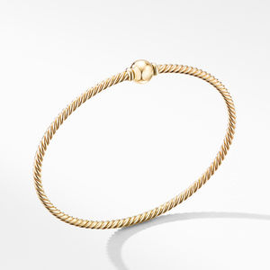Solari Center Station Bracelet in 18K Yellow Gold with Gold Dome