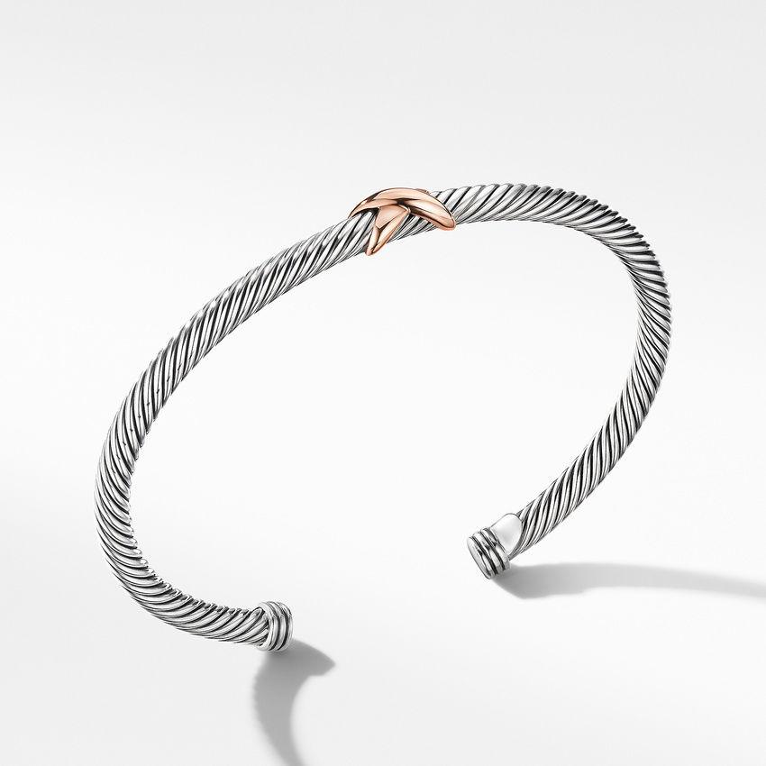 X Station Bracelet with 18K Rose Gold