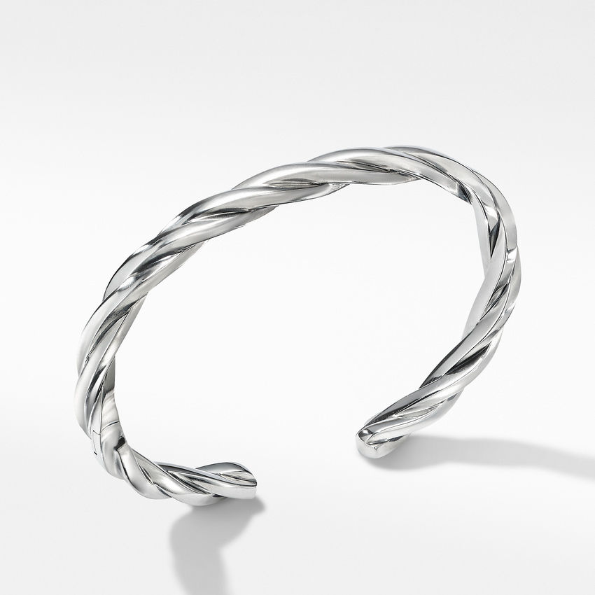 Narrow Twisted Cable Cuff Bracelet
