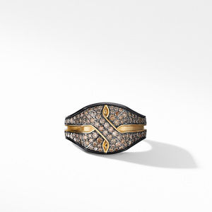 Armory® Signet Ring in Black Titanium with Pavé Cognac Diamonds and 18K Yellow Gold alternative image