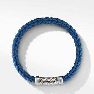 Chevron Blue Rubber Link Bracelet alternative image