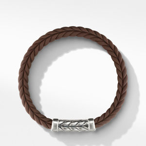 Chevron Brown Rubber Link Bracelet alternative image