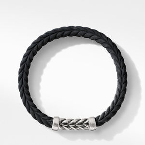 Chevron Black Rubber Link Bracelet alternative image