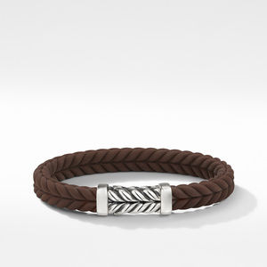 Chevron Brown Rubber Link Bracelet