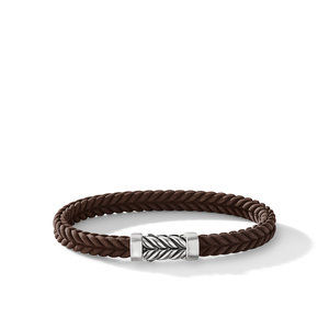 Chevron Brown Rubber Bracelet