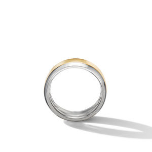 Beveled Band Ring in 18K White and Yellow Gold alternative image