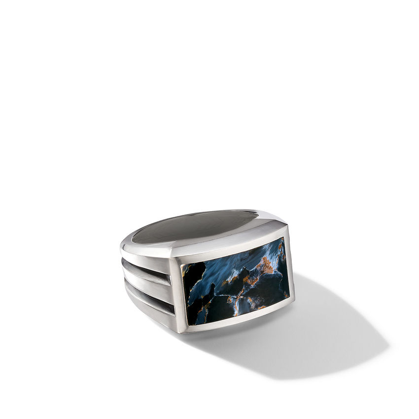 Beveled Signet Ring with Pietersite