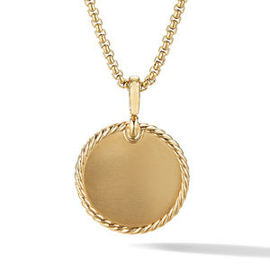 DY Elements Disc Pendant in 18K Yellow Gold with Pavé Diamonds alternative image