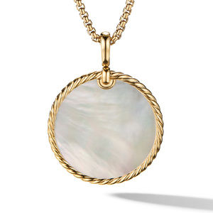 DY Elements® Reversible Disc Pendant in 18K Yellow Gold with Black Onyx and Mother of Pearl alternative image