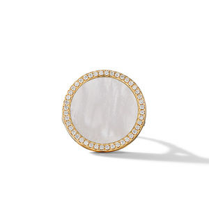 DY Elements Ring in 18K Yellow Gold with Mother of Pearl and Pavé Diamonds alternative image