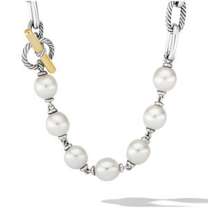 DY Madison® Pearl Chain Necklace with 18K Yellow Gold