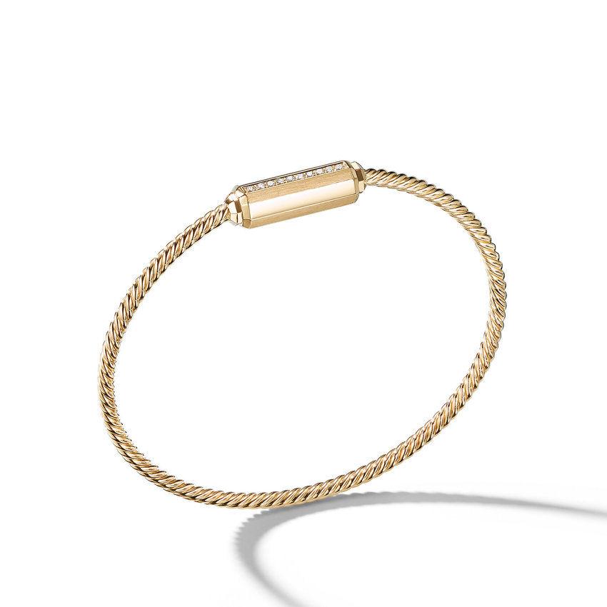 Barrels Bracelet with Diamonds in 18K Gold