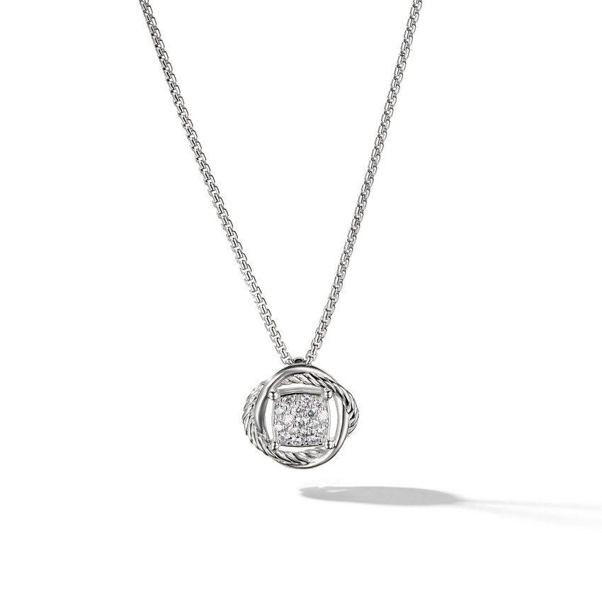 Infinity Pendant Necklace with Diamonds