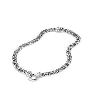 Chain Necklace with Diamonds alternative image