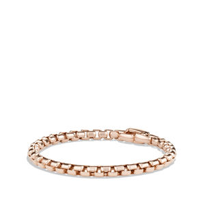 Box Chain Bracelet in Rose Gold