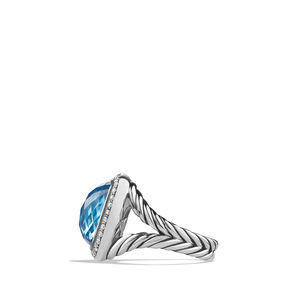 Ring with Blue Topaz and Diamonds alternative image