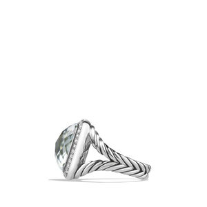 Ring with Prasiolite and Diamonds alternative image