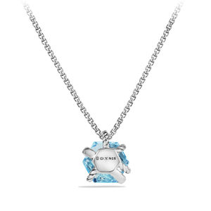 Cable Wrap Necklace with Blue Topaz and Diamonds alternative image