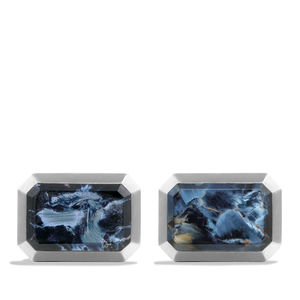 Cuff Links with Pietersite alternative image