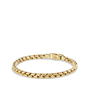 Box Chain Bracelet in Gold