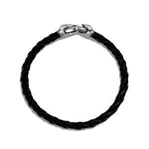Armory Leather Bracelet in Black alternative image