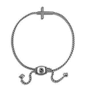 Pave Cross Bracelet with Diamonds alternative image