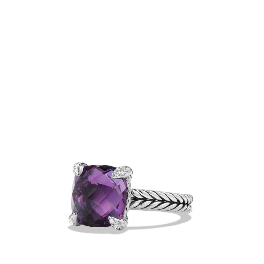 Châtelaine Ring with Amethyst and Diamonds