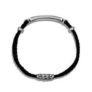 Station Black Leather Bracelet with Black Onyx alternative image