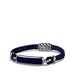 Station Blue Leather Bracelet with Lapis Lazuli