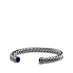 Cable Classic Cuff Bracelet with Lapis Lazuli