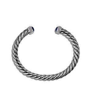 Cable Classic Cuff Bracelet with Lapis Lazuli alternative image