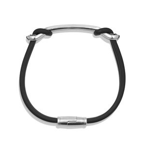 Maritime Rubber ID Bracelet in Black alternative image