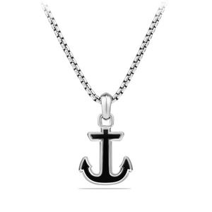 Maritime® Anchor Amulet with Black Onyx