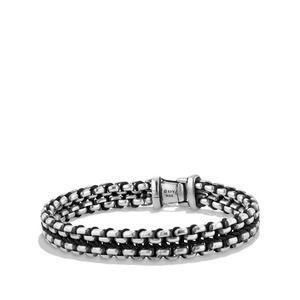 Woven Box Chain Bracelet in Black