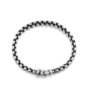 Woven Box Chain Bracelet in Black alternative image