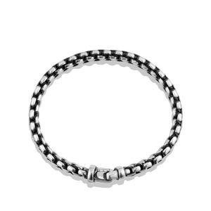 Woven Box Chain Bracelet in Black alternative image