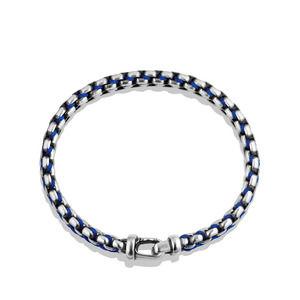 Woven Box Chain Bracelet in Blue alternative image