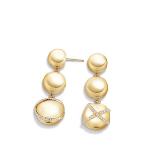 Solari Triple Drop Earring with Diamonds in 18K Gold alternative image