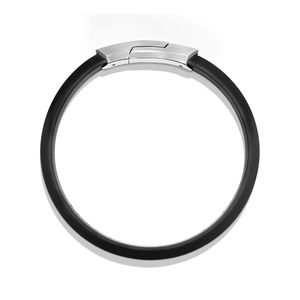 Streamline Rubber ID Bracelet in Black alternative image