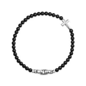 Spiritual Beads Cross Station Bracelet with Black Onyx alternative image